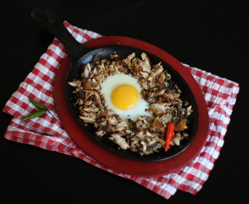 Bangus Sisig w/Fried Egg