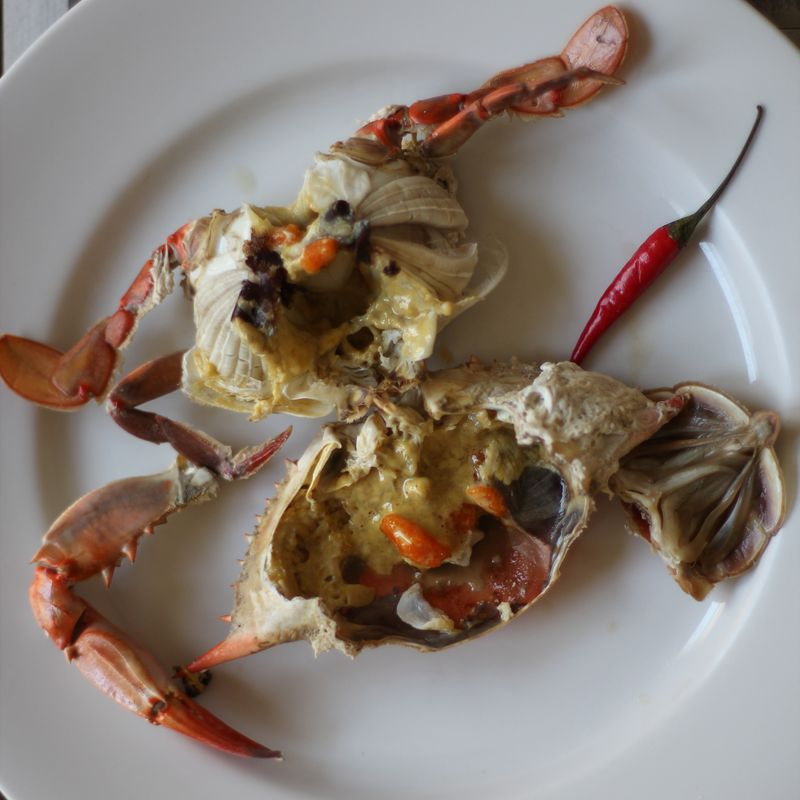 Beer-Steamed Blue Crabs