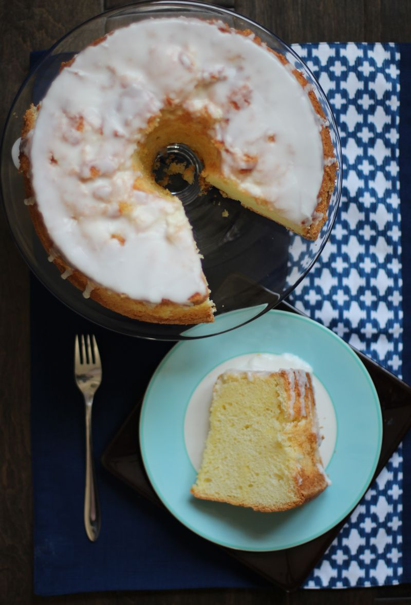 Pandan Chiffon Cake w/Coconut Glaze