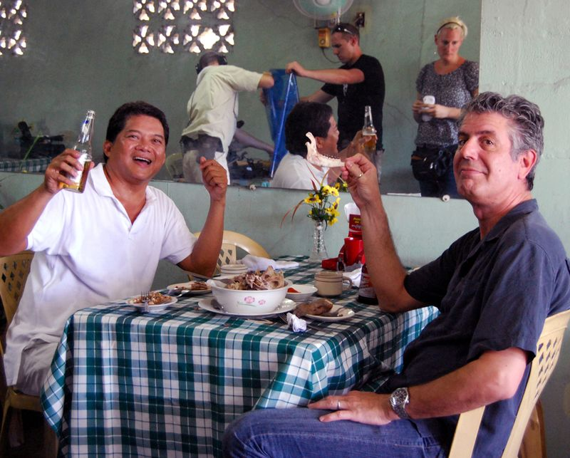 Claude Tayag and Anthony Bourdain