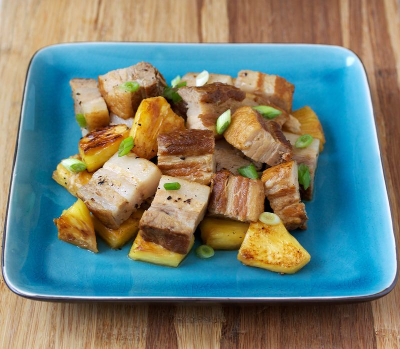 Porkbelly and Pineapple Adobo