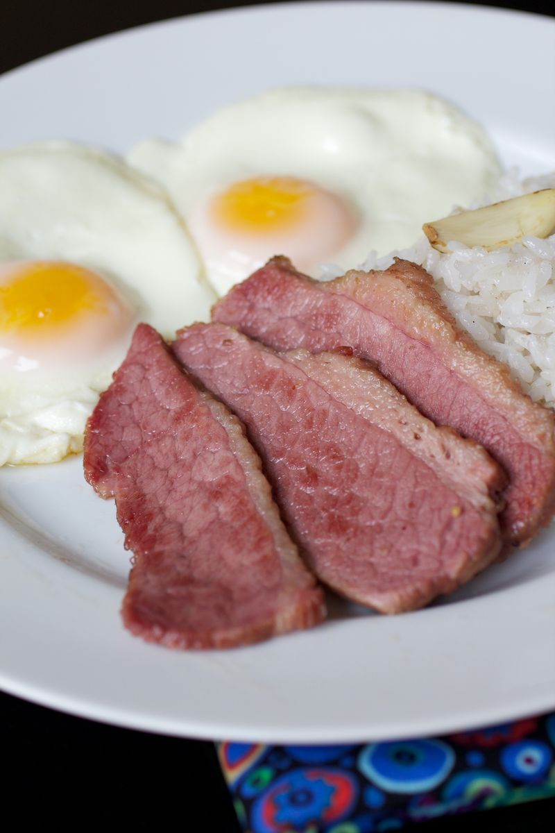 Home Cured Corned Beef Burnt Lumpia Filipino Food Filipino