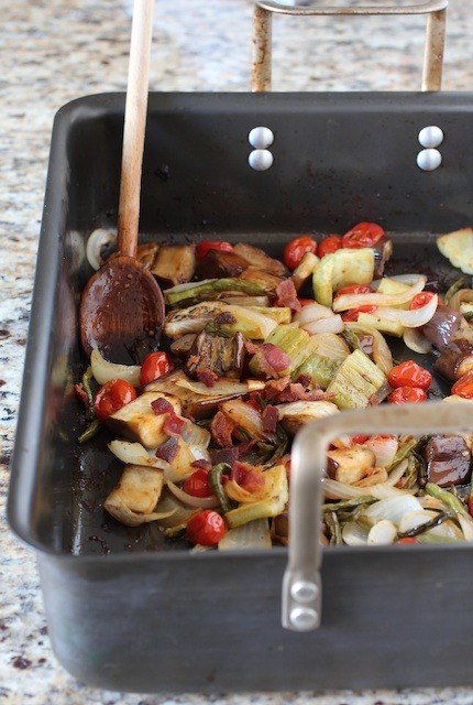 Oven-roasted-pinakbet-with-bacon